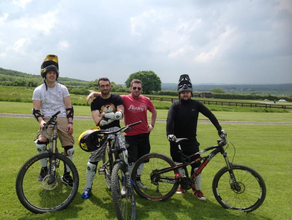 Friends day out mountain biking at Bike Park Ireland