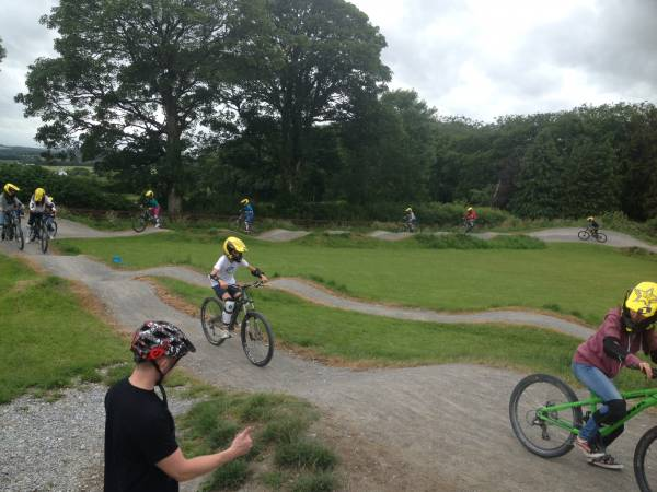 Students Activity Fun Cycling at Bike Park Ireland