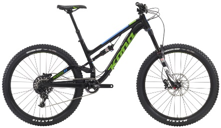 The Kona Process 153's & Kona Precept 150's are our standard full suspension bikes for hire.